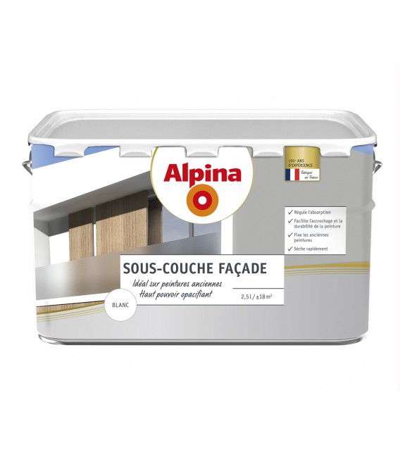 sous couche fa ade opacifiante 2 5l blanc 29 90 chez bricolagedudimanche. Black Bedroom Furniture Sets. Home Design Ideas