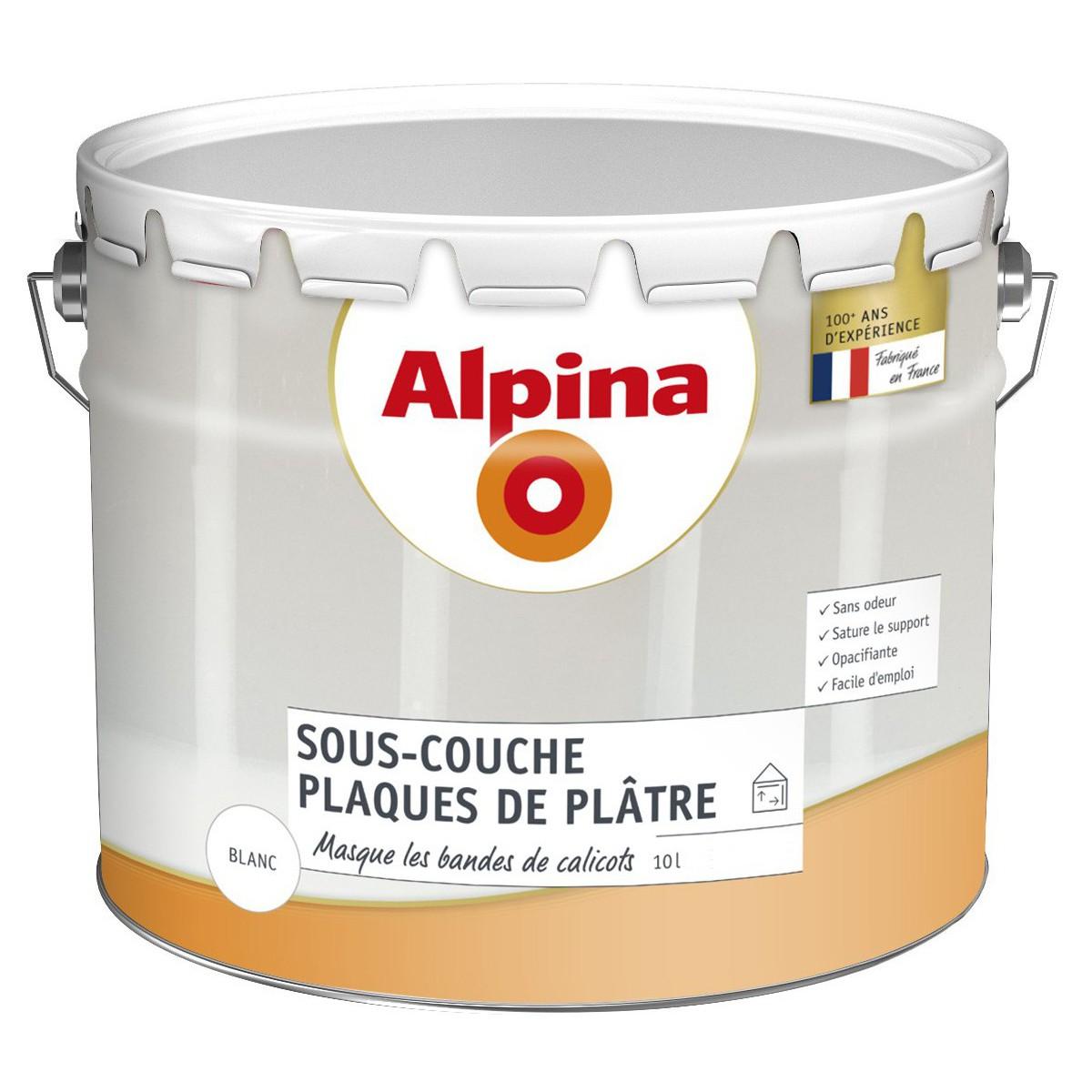 ALPINA - Sous-couche Alpina Plaques de plâtre 10L à 21,76 € chez BricolageDuDimanche