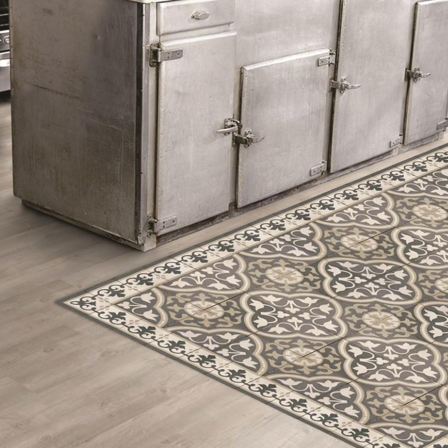 Tapis Effet Carreaux De Ciment tapis vinyle carreaux de ciment ✅ tapis vinyle salon et cuisine
